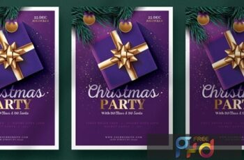 Beautiful Christmas Flyer Template TTZV54C 3