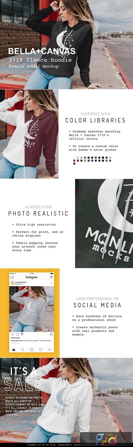 Bella Canvas Sweatshirt Mockup 3719 4271856 1