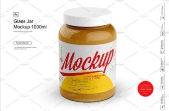 Glass Jar Mockup 1000ml 4278347 10