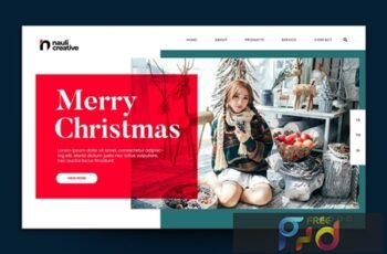 Merry Christmas Web Landing Page AI and PSD Vol. 3 Q9NYYQR 10