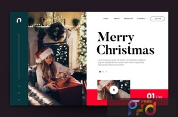 Merry Christmas Web Landing Page AI and PSD Vol. 4 ZSUUXQ6 4