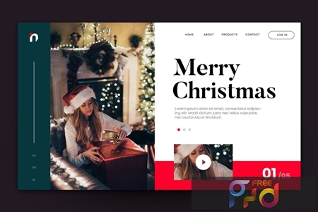 Merry Christmas Web Landing Page AI and PSD Vol. 4 ZSUUXQ6 1