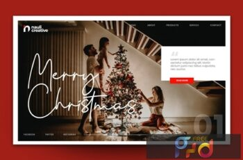 Merry Christmas Web Landing Page AI and PSD Vol. 5 GHNC2XM 8