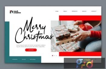 Merry Christmas Web Landing Page AI and PSD Vol. 6 GLW5V8J 5