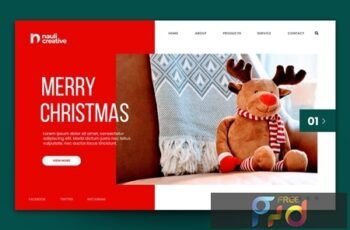 Merry Christmas Web Landing Page AI and PSD Vol. 7 MFEJES6 6