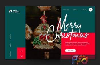 Merry Christmas Web Landing Page AI and PSD Vol. 8 DR3N9ZJ 5