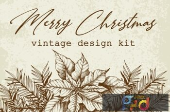 Merry Christmas Vintage Design Kit G87U9GB 3