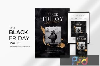 Black Friday Promotion Flyer and Instagram Vol2 VSQVUKM 4