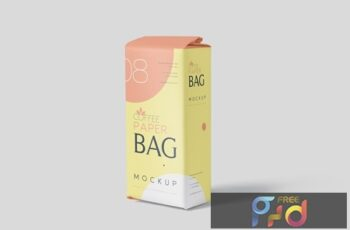 Coffee Paper Bag Mockup Set 5S99STL