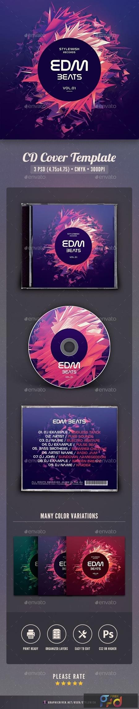 EDM Beats CD Cover Artwork 20119903 1