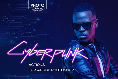 Cyberpunk Actions For Photoshop 4326117 FreePSDvn