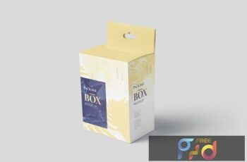 Package Box Mockup Set - Slim Square with Hanger TL44SVP 7