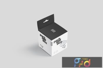 Package Box Mockup Set - Square With Hanger BR7DD6Y 4