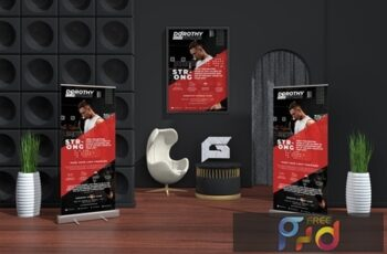 Gym - Sports Business Roll-up Banner & Flyer U56ZZHT 6
