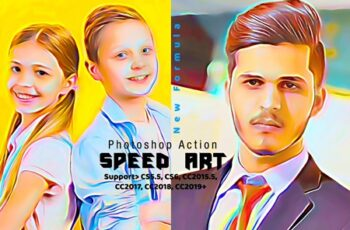 Speed Paint Photoshop Action 4286019