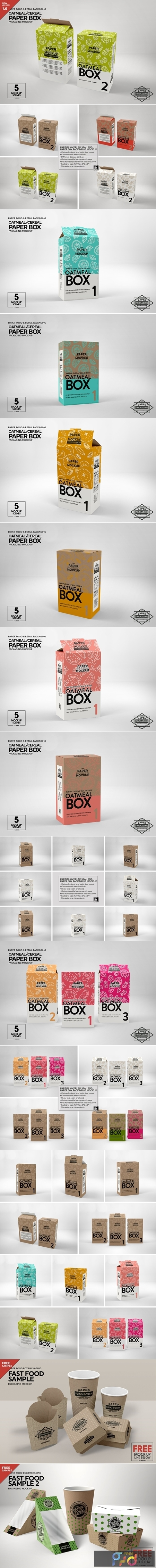 Paper Cereal Box Packaging Mockup 4347678 1