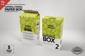 Paper Cereal Box Packaging Mockup 4347678 7