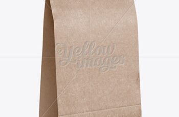 Kraft Paper Food-Snack Bag Mockup - Halfside View 16918 10