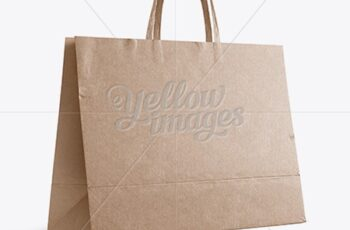Kraft Paper Shopping Bag Mockup - Halfside View (Eye-Level Shot) 17579 9