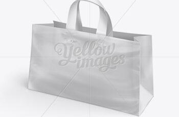 Plastic Shopping Bag PSD Mockup - Half Side View 10745 4
