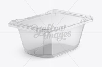 Transparent Plastic Container Mockup - Half Side View 18127 3