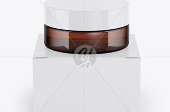 Amber Jar w- Paper Box Mockup 34821 8