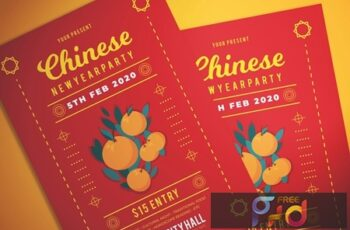 Chinese New Year Party Flyer J6GGN33 7