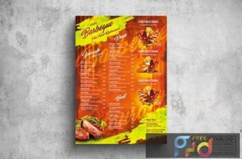 BBQ & Grill Poster Food Menu - A3 & US Tabloid 7NWHAED 7