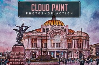 Cloud Paint Photoshop Action 25023496