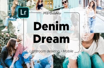 5 Lightroom Presets, DENIM DREAM 4332802 5