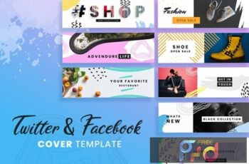 Facebook & Twitter Cover Templates TPBEHEU 3