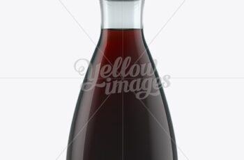 Soy Sauce Glass Bottle W- Dispenser Top Mockup 12304 8