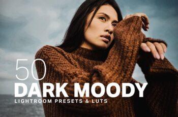 50 Dark Moody Lightroom Presets LUTs 4394909 11