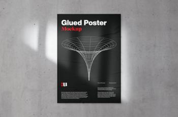 Glued Poster Mockup 2196275 6