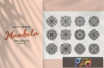 Hand Drawn Mandala Ornaments Vol2 EU7MADL 3