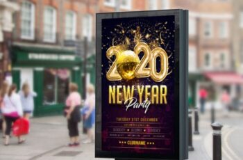 Happy New Year Flyer-poster Template 2196298 4