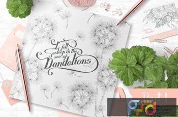 Sea of Dandelions - florals 78VESLJ 5