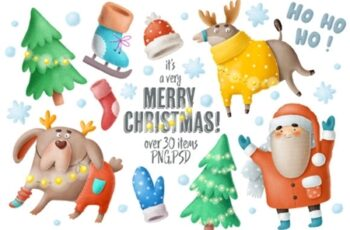 Christmas Clipart and Characters Set 2178307 12
