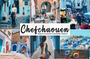 Chefchaouen Mobile & Desktop Lightroom Presets LR47WNN