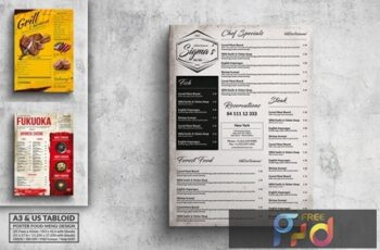 Various Food Menu Poster Design Bundle 8B9DQHB 7