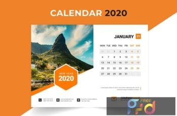 2020 Desk Calendar Design 5NTM55X 7