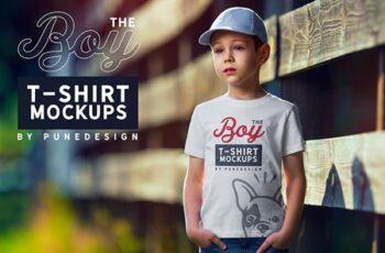 Boy T-Shirt Mock-Up Set 4345126 3