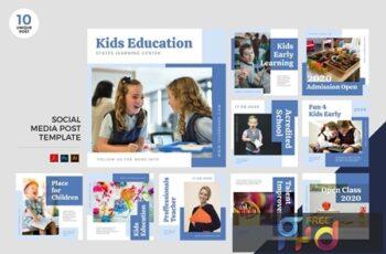 Children Education Social Media Kit PSD & AI 57JBNU8 7
