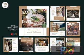 Wedding Invitation Social Media Kit PSD & AI SKFARCM 8