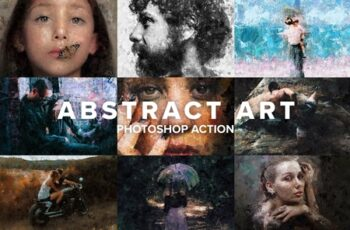 Abstract Art Photoshop Action 4403730 10