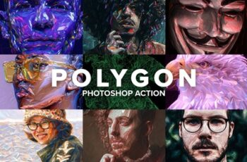 Polygon Photoshop Action 4403769 6