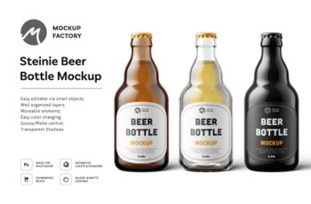 Steinie Beer Bottle Mockup 4335055 4