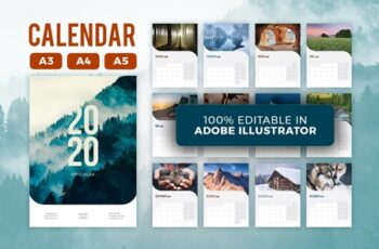 2020 Calendar Template 4401115 3