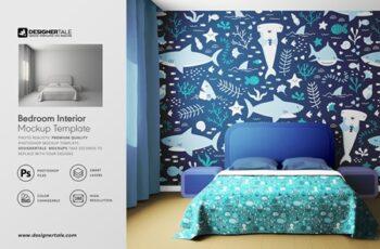 Bedroom Interior Objects Mockup 4100136 3