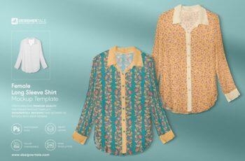 Female Full Sleeve Shirt Mockup 4103678 2